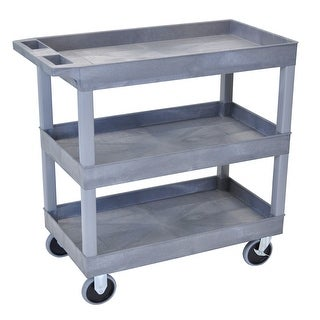 Link to Luxor HD High Capacity 3 Tub Shelves Grey Cart Similar Items in Outdoor Sofas, Chairs & Sectionals