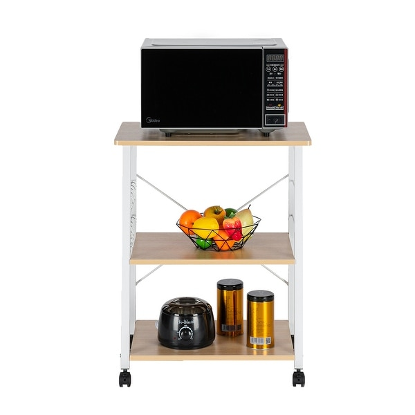 Baker's Rack 3-Tier Microwave Oven Stand Storage Cart Kitchen Rack. Opens flyout.