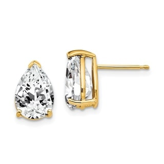 Link to 14K Yellow Gold 10x7mm Pear Cubic Zirconia Earrings by Versil Similar Items in Earrings