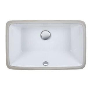 "Ryvyr CUM198 13-1/4"" Undermount Bathroom Sink with Overflow"