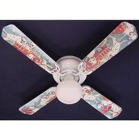 Dalmatian Puppies Fire truck Print Blades 42in Ceiling Fan Light Kit - Multi