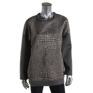 Moncler Womens Pullover Top Metallic Embossed Animal Print - l https://ak1.ostkcdn.com/images/products/is/images/direct/63e46b4934d4ff71fefd625bda7737dff846790e/Moncler-Womens-Pullover-Top-Metallic-Embossed-Animal-Print.jpg?impolicy=medium
