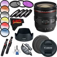 Canon EF 24-70mm f/4L IS USM Lens International Version (No Warranty) Professional Accessory Combo