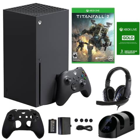 Xbox Series X Console w/ Accessories, 3 Month Live Card & Titanfall 2 - Black