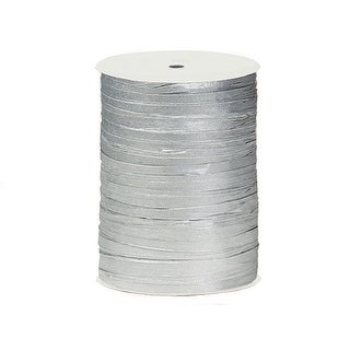 "Pack Of 1, Solid Metallic Silver Paper Raffia Ribbon 1/4"" - 1.25"" Width 100 Yard Roll 100% Natural Fibers"
