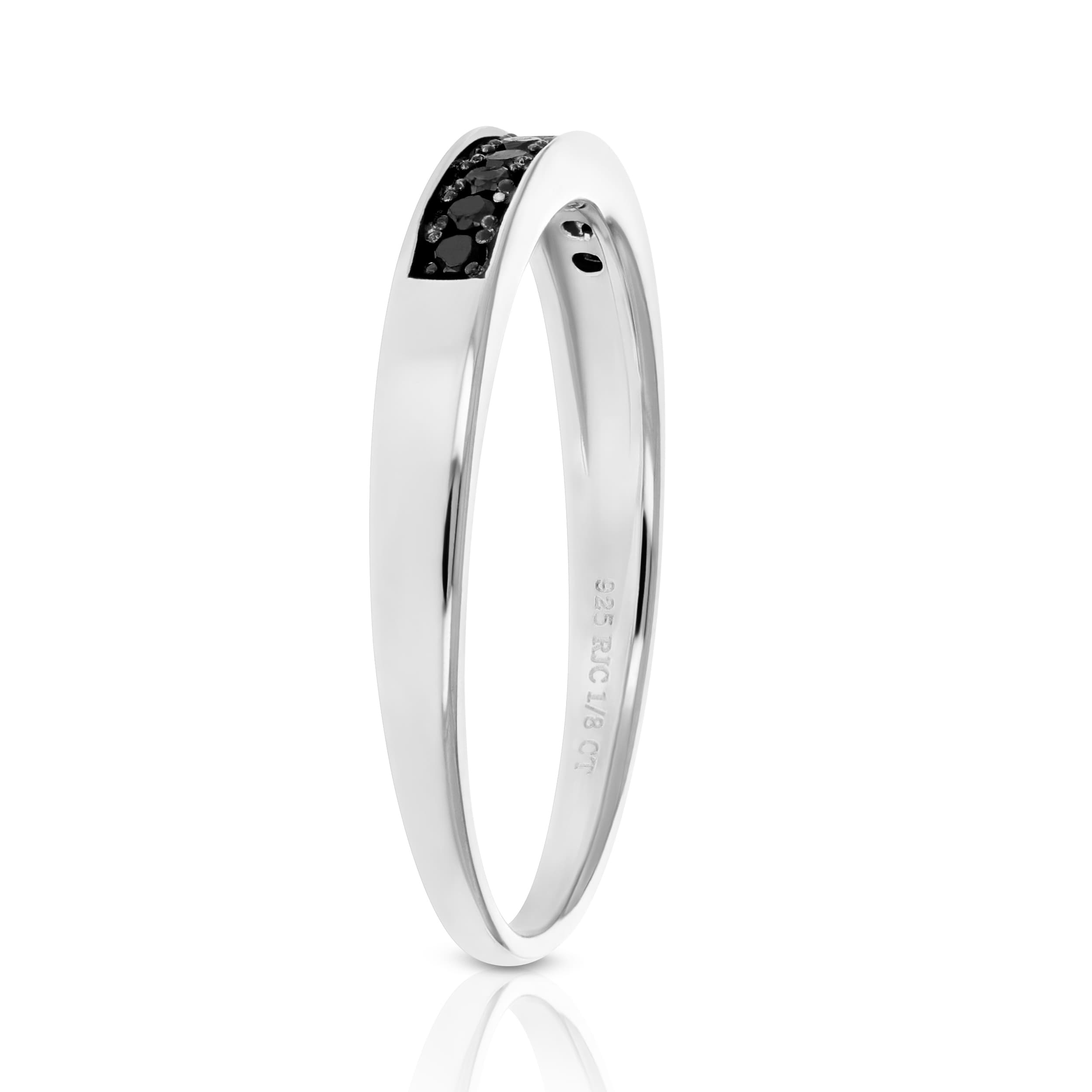 Details about  /3.28 Ct Black Diamond Round Engagement Wedding Ring 925 Sterling Silver