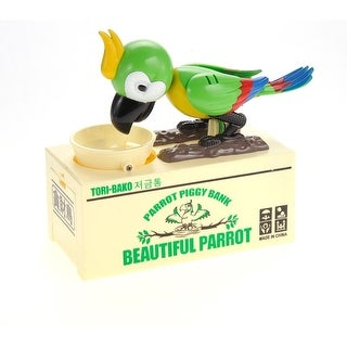 Parrot Coin Bank Green