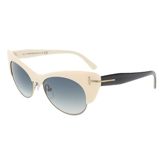 Tom Ford FT0387/S 25F Lola Ivory Cat Eye Sunglasses - 54-17-140