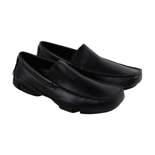 Unlisted by Kenneth Cole To Be Bold Mens Black Casual Dress Loafers Shoes