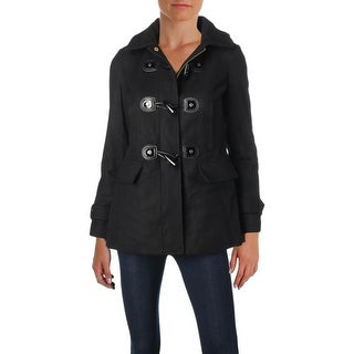 MICHAEL Michael Kors Womens Petites Duffle Coat Winter Wool