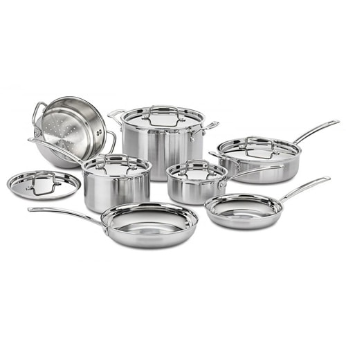 """""""Multiclad Pro Triple Ply Stainless 12 Pc Set Multiclad Pro Triple Ply Stainless 12 Pc Set"""""""