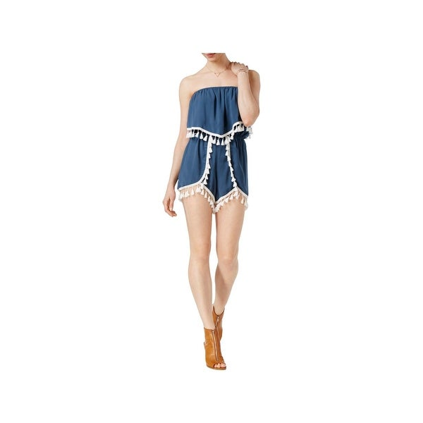 8747bdabac21a Shop Jack Womens Romper Pleated Fringe - Free Shipping On Orders ...