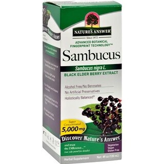 Nature's Answer - Sambucus Nigra Black Elder Berry Extract ( 2 - 4 FZ)
