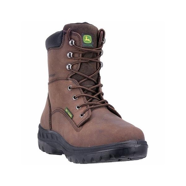 John Deere Work Boots Mens Lace WCT PU Steel Brown