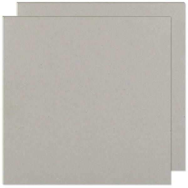 "Cinch Book Board 8""X8"" 2/Pkg-Gray Chipboard - gray"