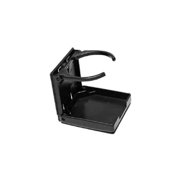 Attwood 11654-3 Fold-Up Drink Holder - Single Ring - Black Drink Holder Black