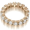 2.50 cttw. 14K Rose Gold Round Cut Diamond Eternity Wedding Band - Thumbnail 1