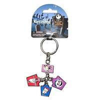 Disney Nightmare Before Christmas Charms Key Ring Scary Teddy, Shock & Barrel - Multi