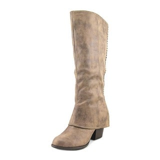 Fergalicious Lundry Women Round Toe Synthetic Tan Knee High Boot