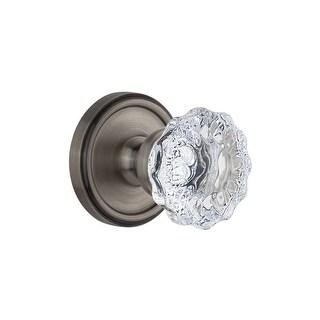 Grandeur GEOFON_PRV_234 Georgetown Solid Brass Rose Privacy Door Knob Set with F - N/A