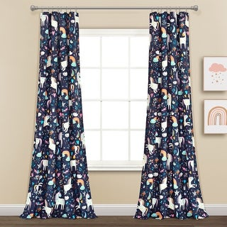 "Link to Lush Decor Unicorn Heart Window Curtain Panel Pair - 84"" x 52"" - 84"" x 52"" Similar Items in Window Treatments"