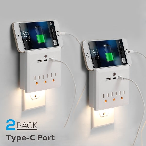Shop Litedge All In One Usb Type C Wall Mount Outlet With