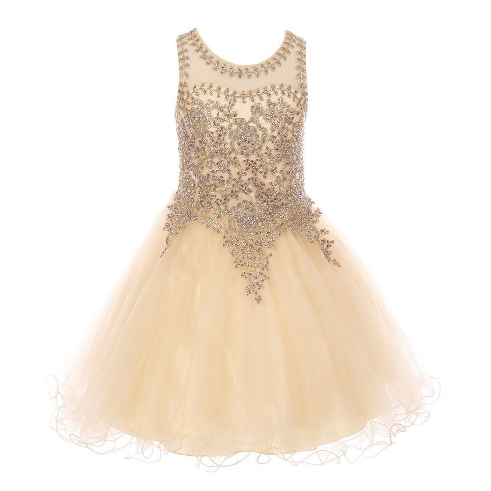 Shop Girls Champagne Gold Coil Lace AB