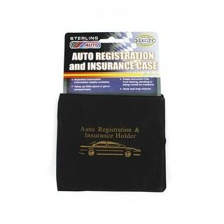 Car Registration Insurance Holder Wallet Black Case Id Card (Pack of 3)