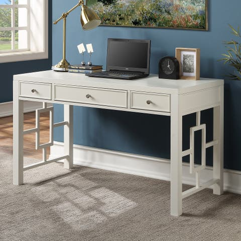Vienna 3-drawer White Desk by Greyson Living