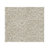 York Wallcoverings RB4236 Plays-Ley Wallpaper - ash gray/white/taupe brown
