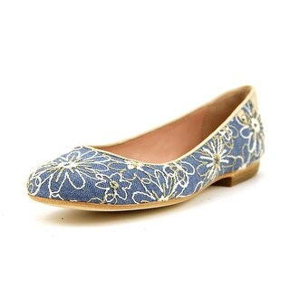 Taryn Rose Bud Women Square Toe Canvas Flats