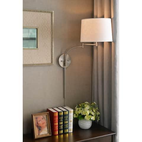 Sieite Wall Swing Arm Lamp - Brushed Steel