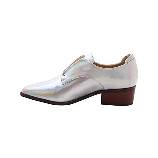 Kensie Womens Dante Oxfords Metallic Laceless