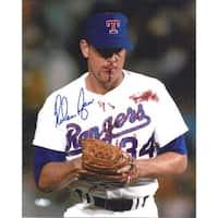 Nolan Ryan Autographed Bloody Lip Texas Rangers 8x10 Photo