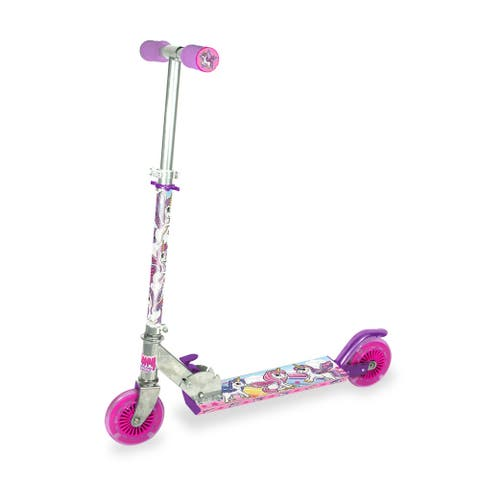 Ozbozz Unicorn Foldalbe Scooter w/ Light Up Wheels