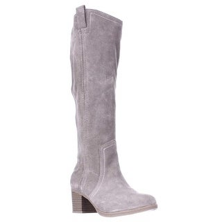 White Mountain Bethesda Western Knee High Slouch Boots, Stone