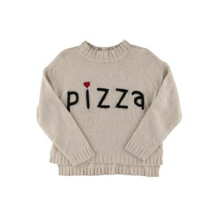 Wildfox Couture Womens Wool Blend Embroidered Crop Sweater - XS