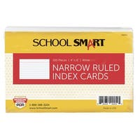 School Smart 90# Ruled Index Card, 4 x 6 Inches, White, Pack of 100
