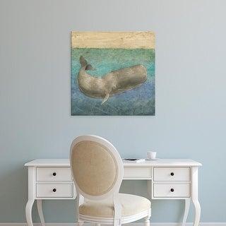 Easy Art Prints Megan Meagher's 'Diving Whale II' Premium Canvas Art