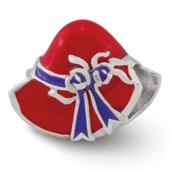 Sterling Silver Reflections Red Hat Society Bead (4mm Diameter Hole)