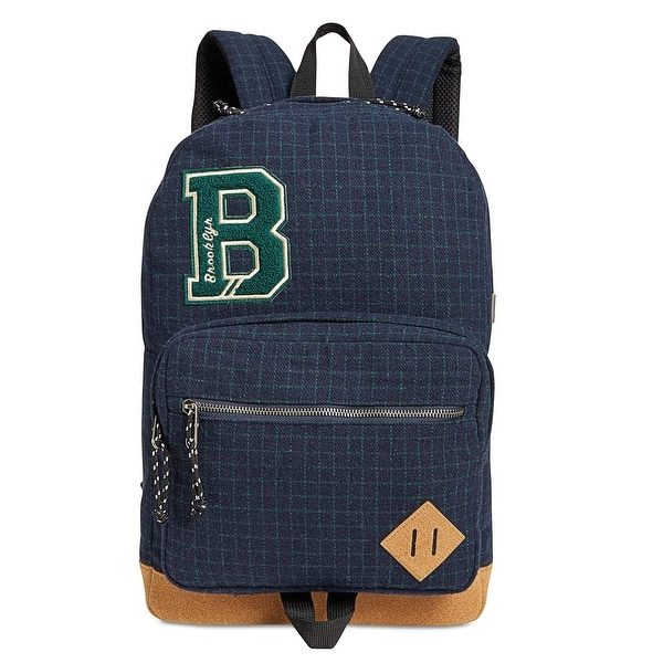 d2de4b5668699e Shop Steve Madden Navy Blue Flannel Plaid Men s Backpack Cotton Bag - Free  Shipping On Orders Over  45 - Overstock - 26904609