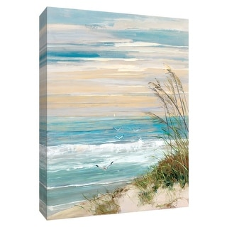 """PTM Images 9-148617  PTM Canvas Collection 10"""" x 8"""" - """"Beach at Dusk"""" Giclee Beaches Art Print on Canvas"""