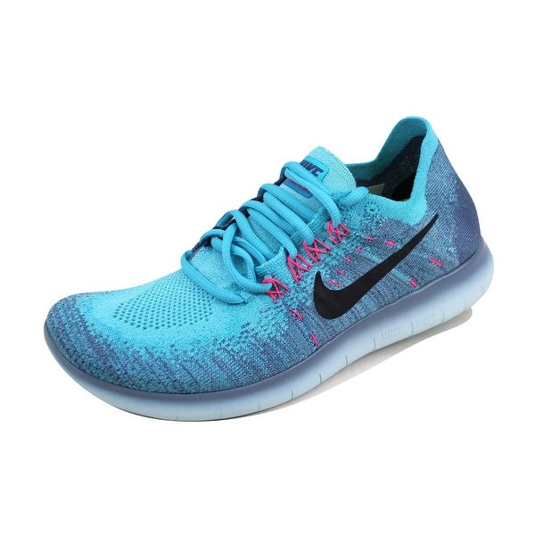 5243e2e32ade ... Women s Athletic Shoes. Nike Women  x27 s Free RN Flyknit 2017 Work Blue  Dark Obsidian 880844