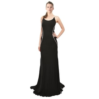 Cesar Galindo Mod Stretch Fit Jersey Knit Fitted Gown Dress - 6