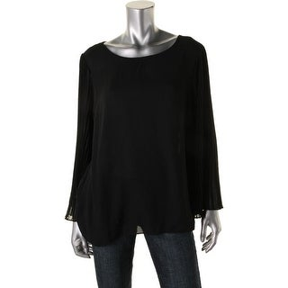 Vince Camuto Womens Pullover Top Sheer Bell Sleeves