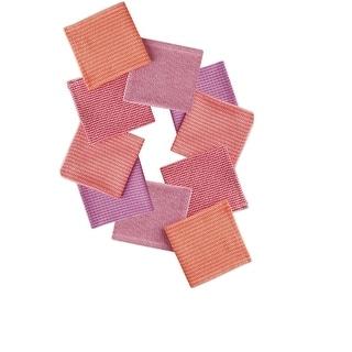 Set of 10 Multi-Colored Malibu Inspired Dish Cloth Kitchen Accessory Set