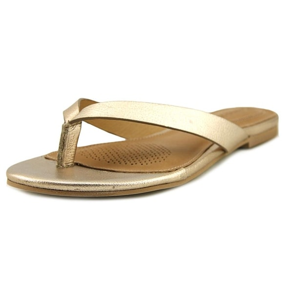 Corso Como Volley Women Open Toe Leather Bronze Thong Sandal