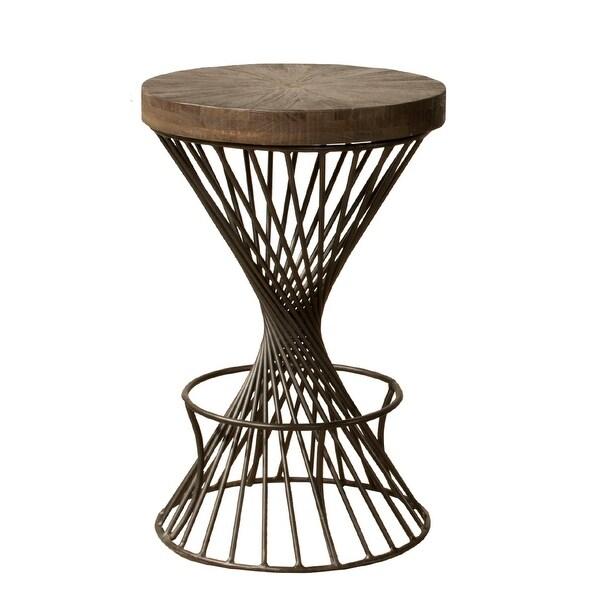 "Hillsdale Furniture 4-826S Kanister 17"" Wide Metal Framed Mid-Century Modern Counter Stool - White"