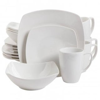 Gibson 92576.16 Zen Buffetware Square Dinnerware Set - 16 Piece