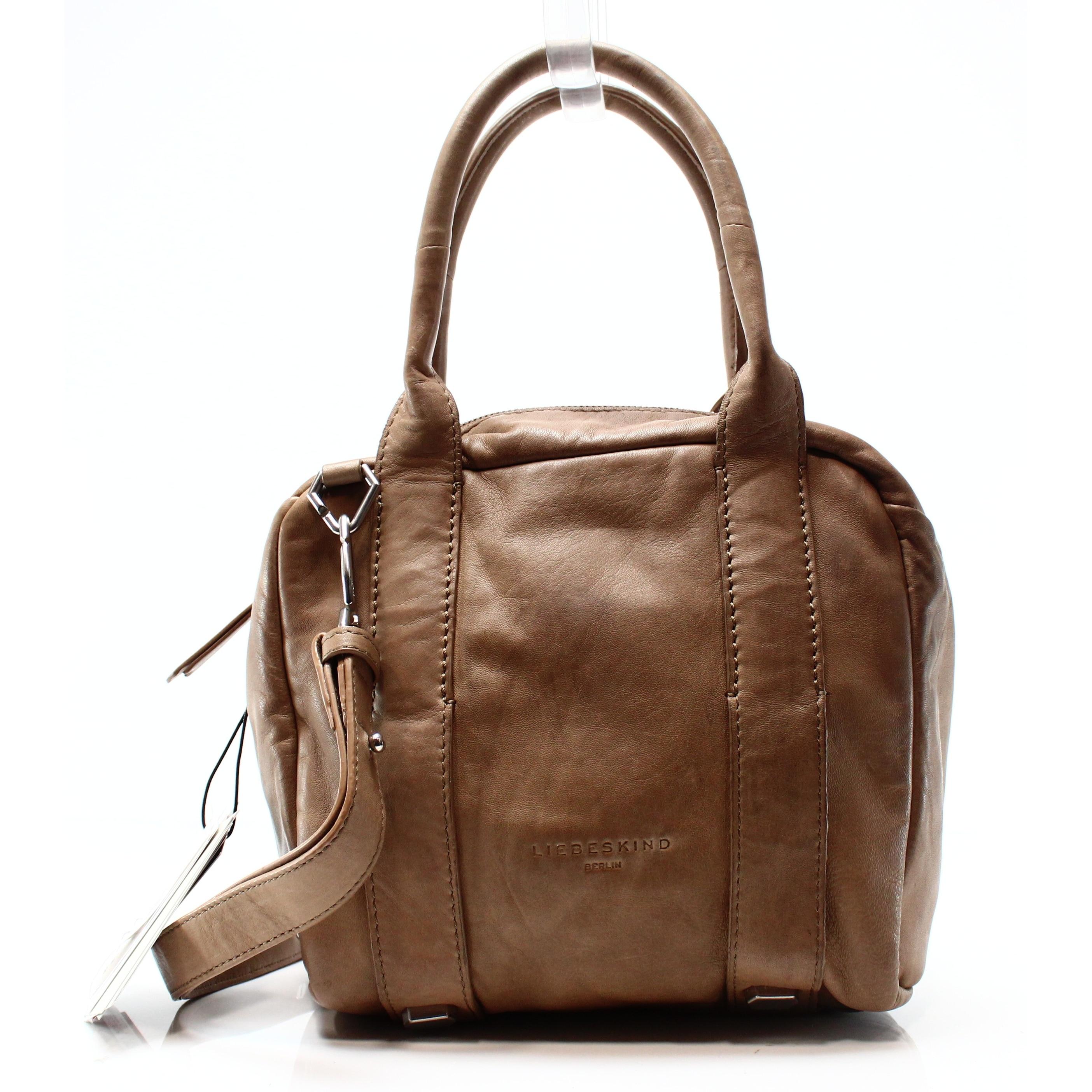 heiß-verkaufende Mode online zu verkaufen Farbbrillanz LIEBESKIND NEW Brown Sheep Leather Zip Top Medium Satchel Bag Purse